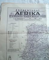 A Magyar Királyi Honvéd térképészeti intézet Északnyugat-Afrika térkép