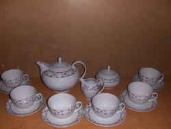 Ritka Alföldi porcelán teás készlet 6 személyes