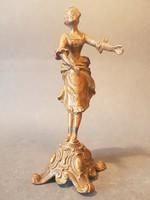 Régi rezezett spiater szobrocska