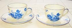 Meisseni mokkás csészék, két személy részére (1882-1944)