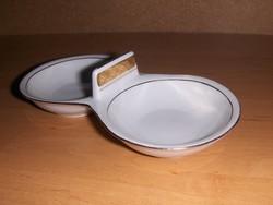 Régi Alföldi porcelán sótartó borstartó 8*16 cm (22/d)