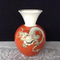 Wallendorf sárkány mintás váza