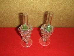 Retro szőlőfürt formájú üveg párban (fp)