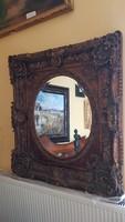 Antik faragott barokk tükör eladó