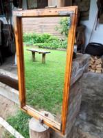 95*53-as felújított, egyedi régi tükrös ablak, tükör, pipere, antik, vintage, dekor design