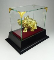 0R568 Arany szerencsehozó elefánt szobor