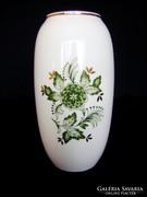 Új, Hollóházi virág mintás váza. Hibátlan!