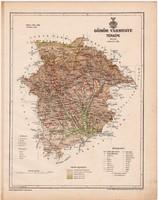 Gömör vármegye térkép 1899, Magyarország atlasz (a), Gönczy Pál, 24 x 30 cm