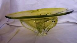Régi üveg kínáló  34 cm