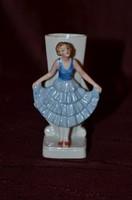 Ibolya váza lány figurával  ( DBZ 0088 )