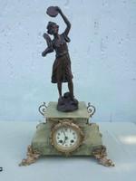 Francia 19sz. kandalló óra, Guillemin szoborral.