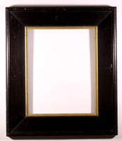 Fa képkeret fekete és arany szegéllyel 65x75 cm