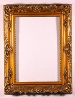 Tükörkeret aranyozott régi restaurált 50x60cm