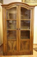 1870 körüli könyves szekrény, vitrin  /vastagfurnéros/