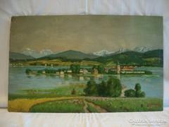 Jelzett régi '48 olaj fa festmény