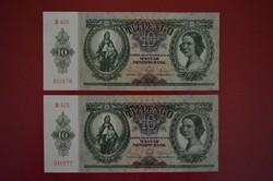 1936 10 pengő sorköv, UNC