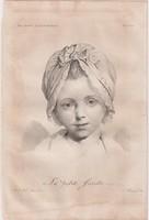 Acélmetszet: La petite Javotte  (1800-as évek)
