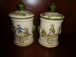 Villeroy&Boch kávés és teás fedeles porcelán edény