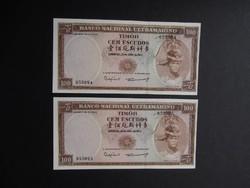 Timor - 100 escudos 1963 sorszámkövető