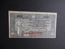Szerb-Horvát-Szlovén Királyság - 10 dinár 1919 - 40 korona felülbélyegzéssel