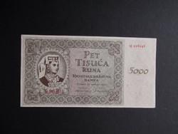 Horvátország - 5000 kuna 1943
