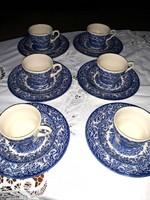 Angol  kék  reggeliző  készlet  teás  készlet