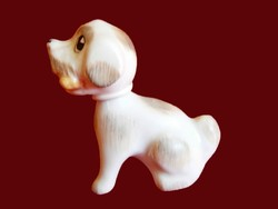 Aquincumi porcelán bólogató, levehető fejű kutya, kutyus