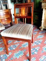 Mahagóni Intarziás 4 db szék