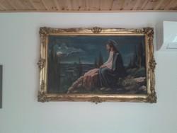 Jézus az olajfák hegyén vászon festmény