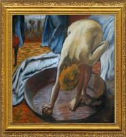 Moona - Mosakodó nő DEGAS festményének mestermásolata