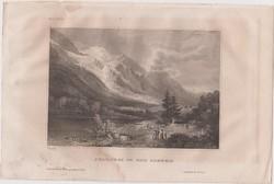 Acélmetszet: Chamouni in Der Schweiz  (1800-as évek)