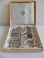 12 darabos hibátlan svéd ezüst kávéskanál készlet eredeti dobozában!