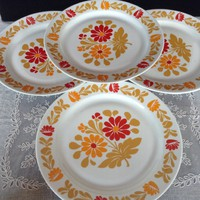 4 db alföldi lapos tányér