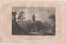 Acélmetszet: Der Kiffhauser und die Rothenburg  (1800-as évek)