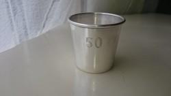 """Ezüst 925 ös kis pohár """"50."""" születésnapra, évfordulóra"""
