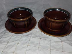 2 darabos mázas kerámia kávés,mokkás készlet