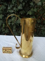 Fém - 7 dl - mérőpohár - sárgaréz   - vastag  - 22 x 14 cm - Német