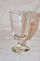 Régi talpas pohár csiszolt díszítéssel  ( DBZ 0026 )