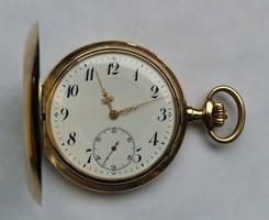 3 fedeles svájci arany zsebóra (Gyűjtői, különleges darab)