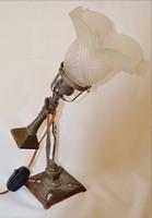 Szecessziós  hajólámpa eredeti burával