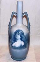 Antik Bernard Bloch Eicwald porcelán váza