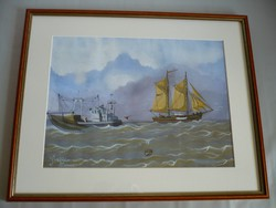 Yvette Mannee Dutch painting boats and harbors series / 9.