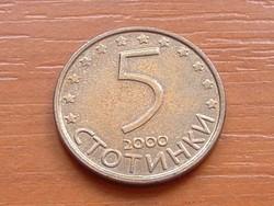BULGÁRIA 5 CTOTINKI 2000