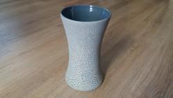 Art deco kerámia váza 26,5cm, ajándék kis vázával 15,5cm