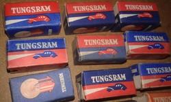 Tungstram égők eredeti dobozában