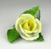0Q568 Herendi porcelán sárga rózsa