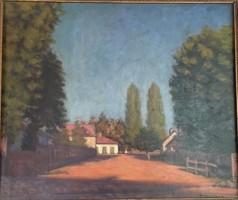 Mikola András - Nagybányai házak, 53x62 cm