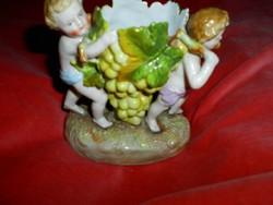 Antik két puttó figurával vitrindísz ékszer tartó