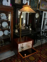 Különleges Art Deco állólámpás bárszekrény szép állapotban működő világítással