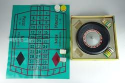 0R750 Régi roulette rulett társasjáték dobozában